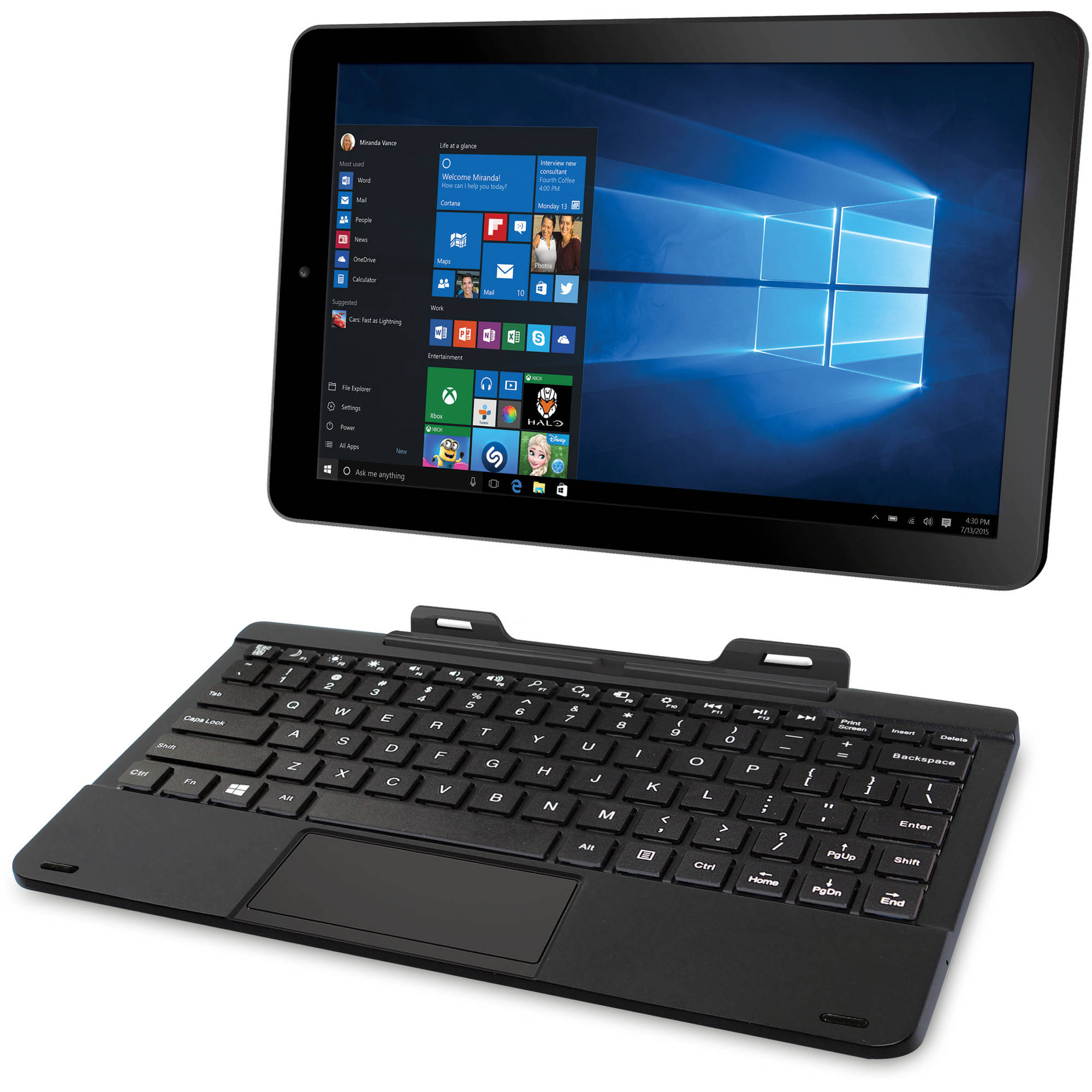 windows tablet with keyboard
