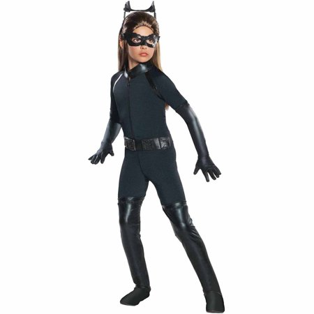 The Dark Knight Rises Deluxe Catwoman Child Halloween Costume](Latex Catwoman Halloween Costume)