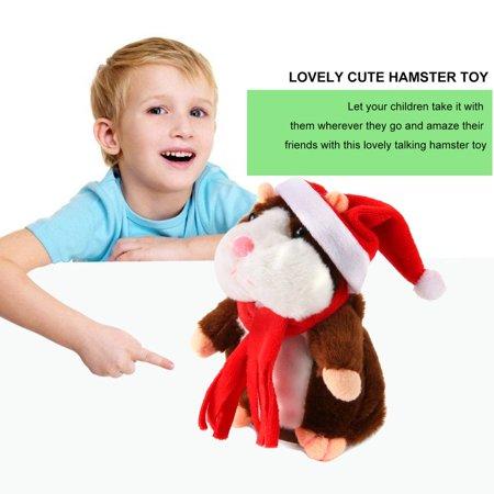 Funny Walking Talking Speaking Nodding Hamster Plush Toy Animal Kids Toy - image 7 of 9