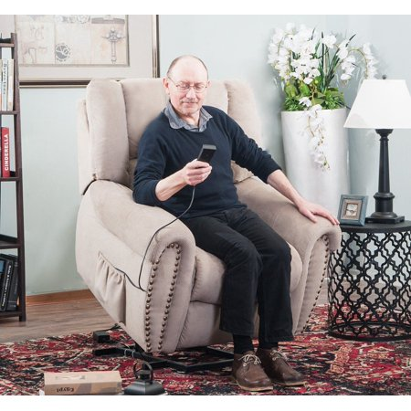 Harper Bright Designs Electric Power Lift Recliner Chair For The Elderly With Remote Controller