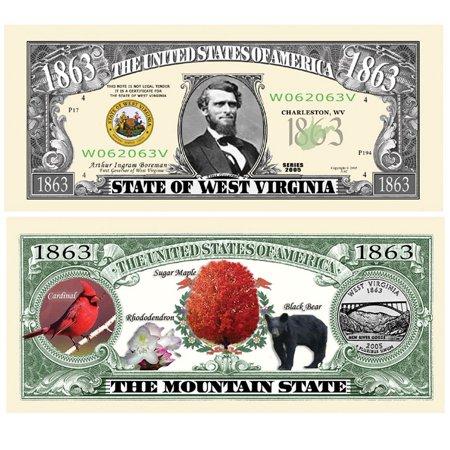 Set of 10 Bills-1863 West Virginia State Bill, By Novelties Wholesale