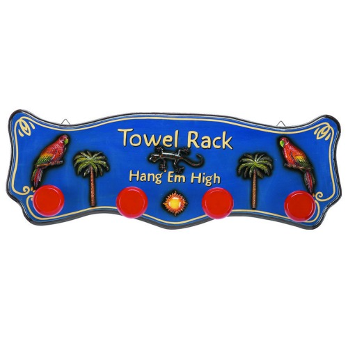 Outdoor Towel Rack Decor