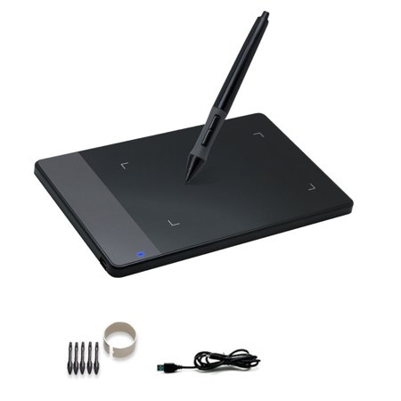 Huion 420 Portable Art Graphic Digital Painting Tablet Light Touch Pad Signature Board with Wireless Drawing Pen for Windows/XP/Mac OS,