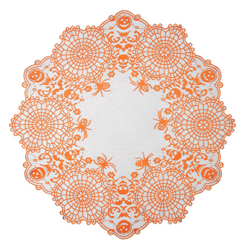 Heritage Lace Frightful Round Table Topper