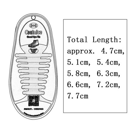 1 Set/16pcs New Novelty No Tie Shoelaces Elastic Silicone Shoe Lace Unisex - image 3 de 5