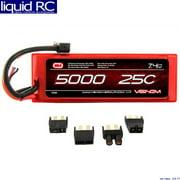 Venom 25C 2S 5000mAh 7.4 Hardcase LiPO Battery with Universal Plug