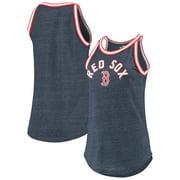 Boston Red Sox New Era Women's Tri-Blend Raw Edge Jersey Tank Top - Heathered Navy