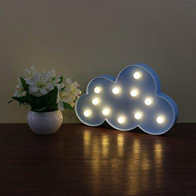 deroteno led night lights with battery operated cloud decorative light lamp in wall night lamp ...