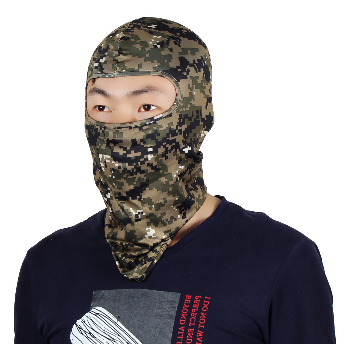 Full Coverage Mask Activities Neck Protector Hood Helmet Balaclava Army Green by Unique-Bargains