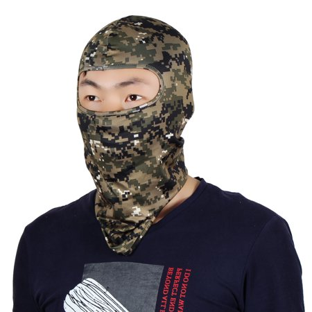 Full Coverage Mask Activities Neck Protector Hood Helmet Balaclava Army Green ()