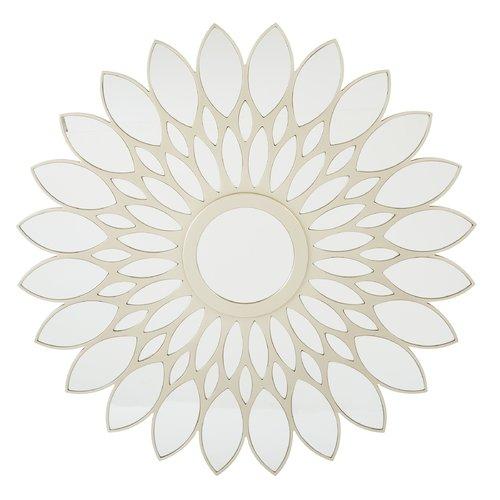 OSP Designs Matte Gold Frame Round Mirror by Generic