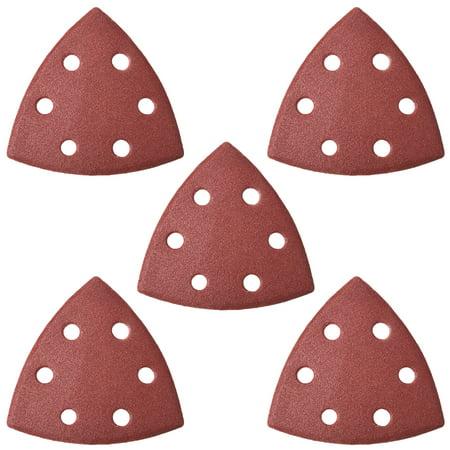 Mouse Detail Sander Sandpaper Pads Flocking Sanding Paper 6 Hole 180 Grits 5pcs - image 5 of 5