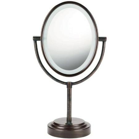 Conair Oval Double-Sided Lighted Mirror - Oiled-Bronze Finish Conair Oval Lighted Mirror