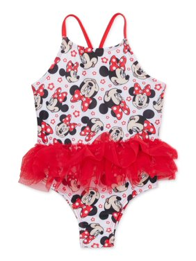 Minnie Mouse Baby Toddler Girl Tutu One Piece Swimsuit