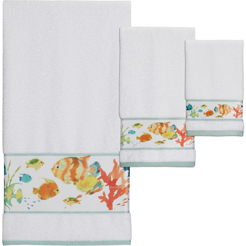 Creative Bath Rainbow Fish 3pc Towel Set, Multi-Color by Generic