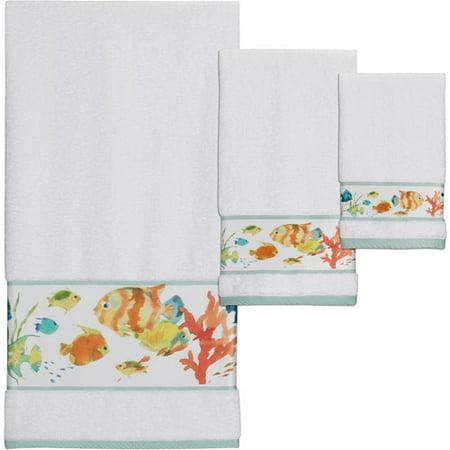Creative Bath Rainbow Fish 3pc Towel Set, Multi-Color