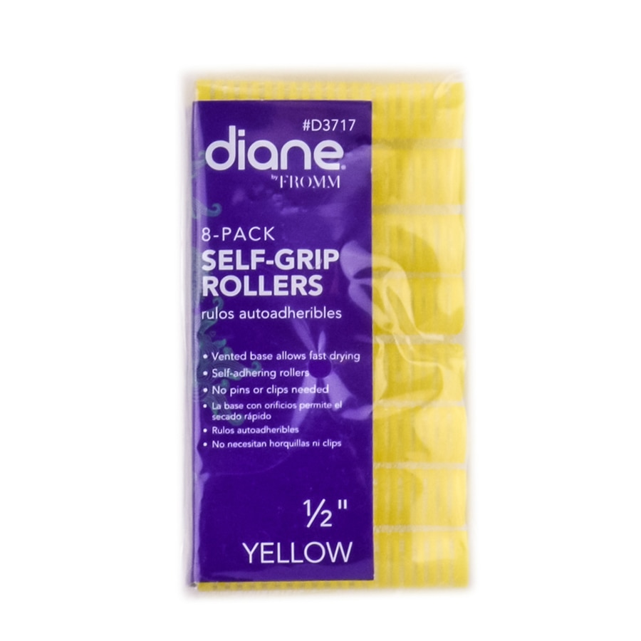 """Diane Self Grip Yellow Rollers - Option : 1/2""""  x 8 Pack"""