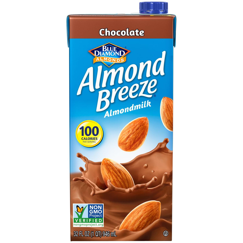 Blue Diamond Almonds Chocolate Almond Breeze Almondmilk, 32.0 FL ...