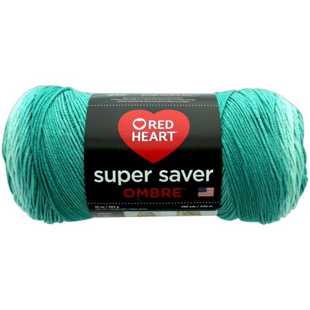 Red Heart Super Saver Ombre Spearmint Yarn, 482 Yd.](Red Heart With Eyes)