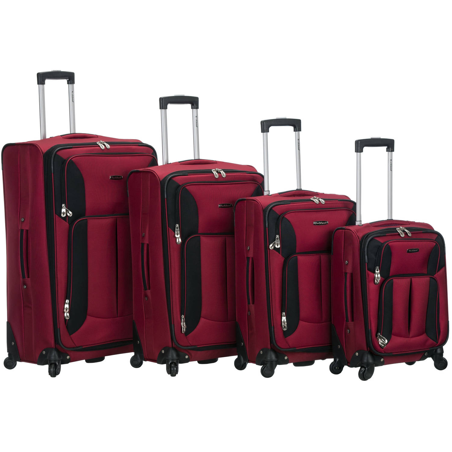 Rockland Impact Spinner Luggage Set, 4-Piece