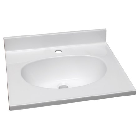 Design House 522227 Cultured Marble Single Faucet Hole Vanity Top 61