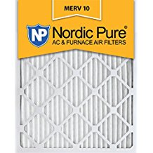 Nordic Pure 16x25x5, MERV 10, Honeywell Replacement Air Filter, Box of 1