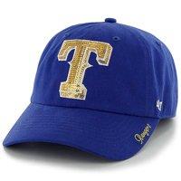 size 40 060e9 f43d8 Product Image Texas Rangers  47 Women s Sparkle Clean Up Adjustable Hat -  Royal ...
