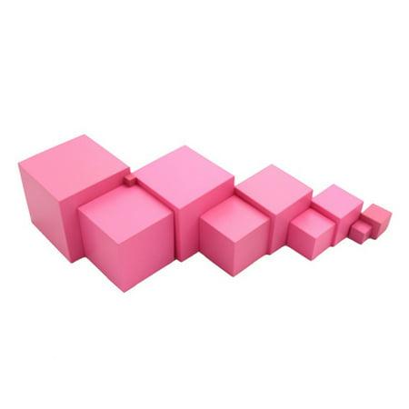 LeKing pour Montessori rose tour mathématiques jouet formation sensorielle blocs de construction en bois jouet d'éducation précoce - image 7 de 8