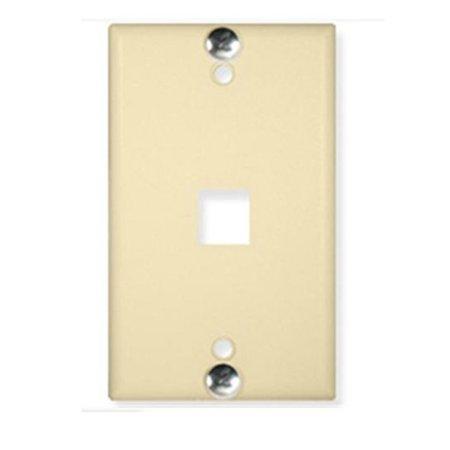 Wall Plate- Phone- Flush- 1-Port Ivory Wall Plate- Phone- Flush- 1-Port Ivory