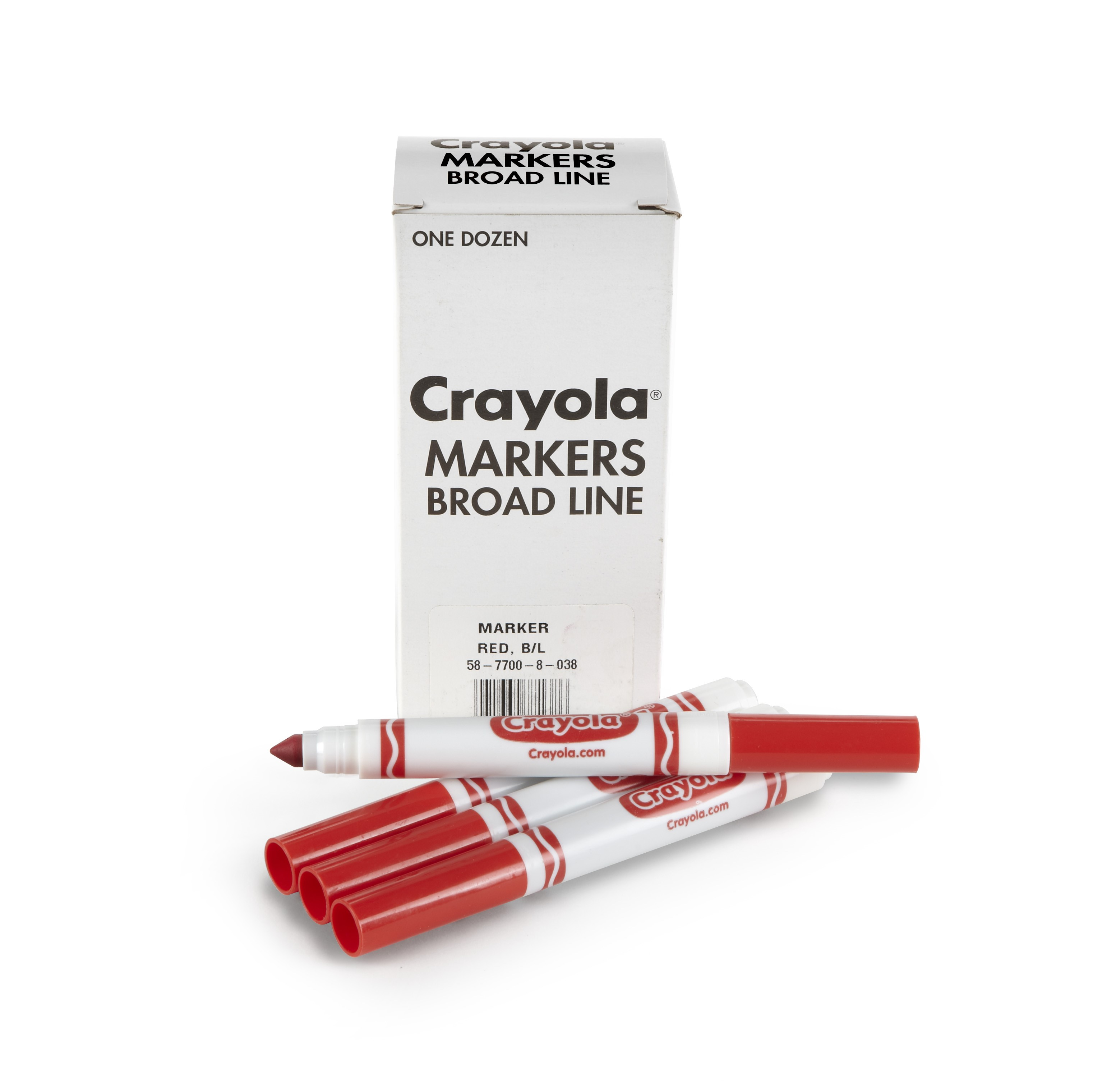 Crayola 12 Count Original Bulk Markers, Red 58-7700-038 by Supplier Generic