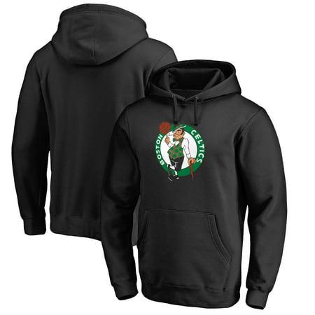 Boston Celtics Fanatics Branded Primary Logo Pullover Hoodie - Black