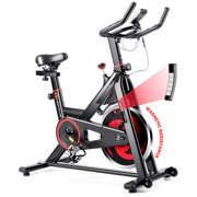 Goplus Stationary Exercise Magnetic Cycling Bike 30Lbs Flywheel Home Gym Cardio Workout