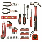 Great Working Tools 65 Piece Tool Set, General Household Hand Tool Kit with Storage Carry Case, Hammer, Screwdrivers, Ratchet, Sockets, Pliers & More