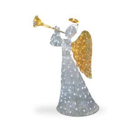 National Tree Co Import Tdf 210004w Ul Lighted Christmas Angel Lawn Decoration