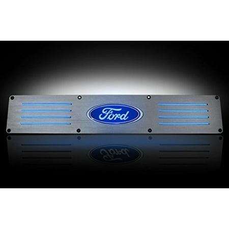 - Ford 99-15 SUPERDUTY (Fits 4-Door Super Crew Rear Doors Only) Billet Aluminum Door Sill / Kick Plate in Brushed Finish -