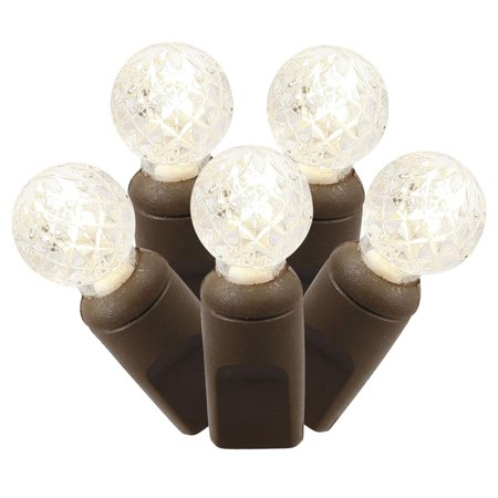 Set of 100 Warm White Commercial Grade LED G12 Berry Christmas Lights 4
