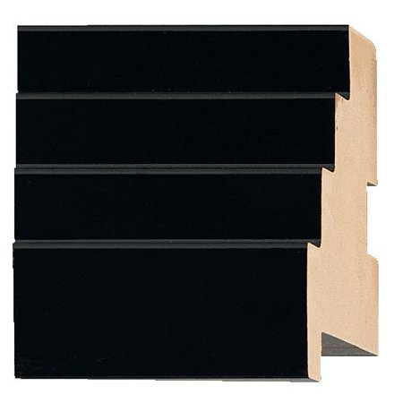 - Picture Frame Moulding (Wood) - Lacquer Black Finish - 2.5