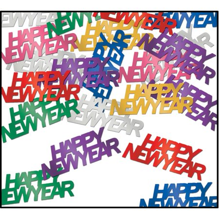 Happy New Year Multi-colored Confetti](Colored Confetti)
