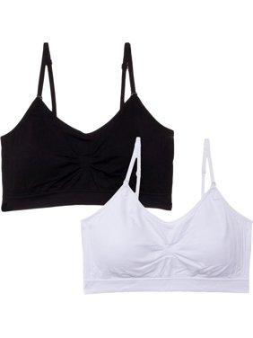 ce416bb83d29d Product Image NEW Women s Seamless Scoopneck Adjustable Strap Pad Bra 2 Pack