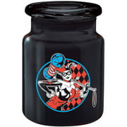 ICUP DC Comics Harley Quinn Checkered Badge 6-Ounce Apothecary Jar