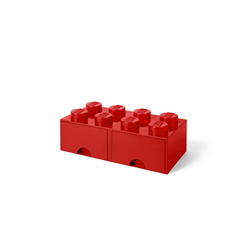 LEGO Storage 8 Brick Toy Box, Bright Red