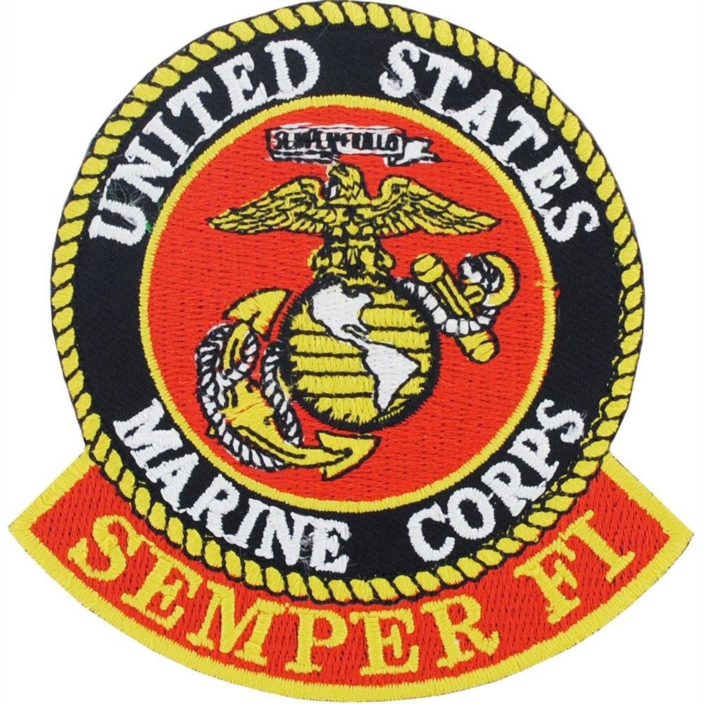 "U.S.M.C. Logo Patch White & Red3"""