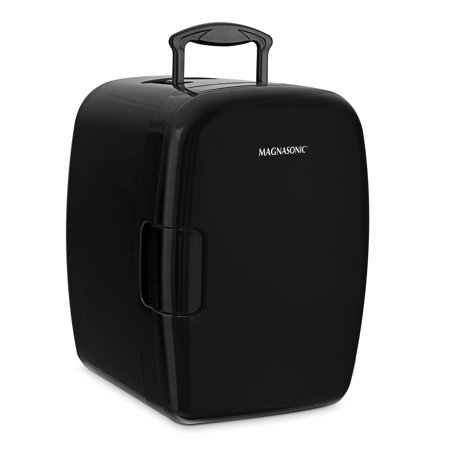 Magnasonic Portable 8 Can Mini Fridge Cooler & Warmer, 5L Capacity, Fully  Insulated, Thermoelectric, 110V & 12V AC/DC Power for Home, Office, Car, RV