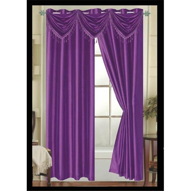 Editex Elaine Waterfall Faux Silk Valance Elaine with 2 Grommets