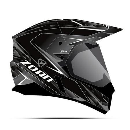 Zoan Synchrony Dual Sport Helmet   Hawk  Silver  3Xl