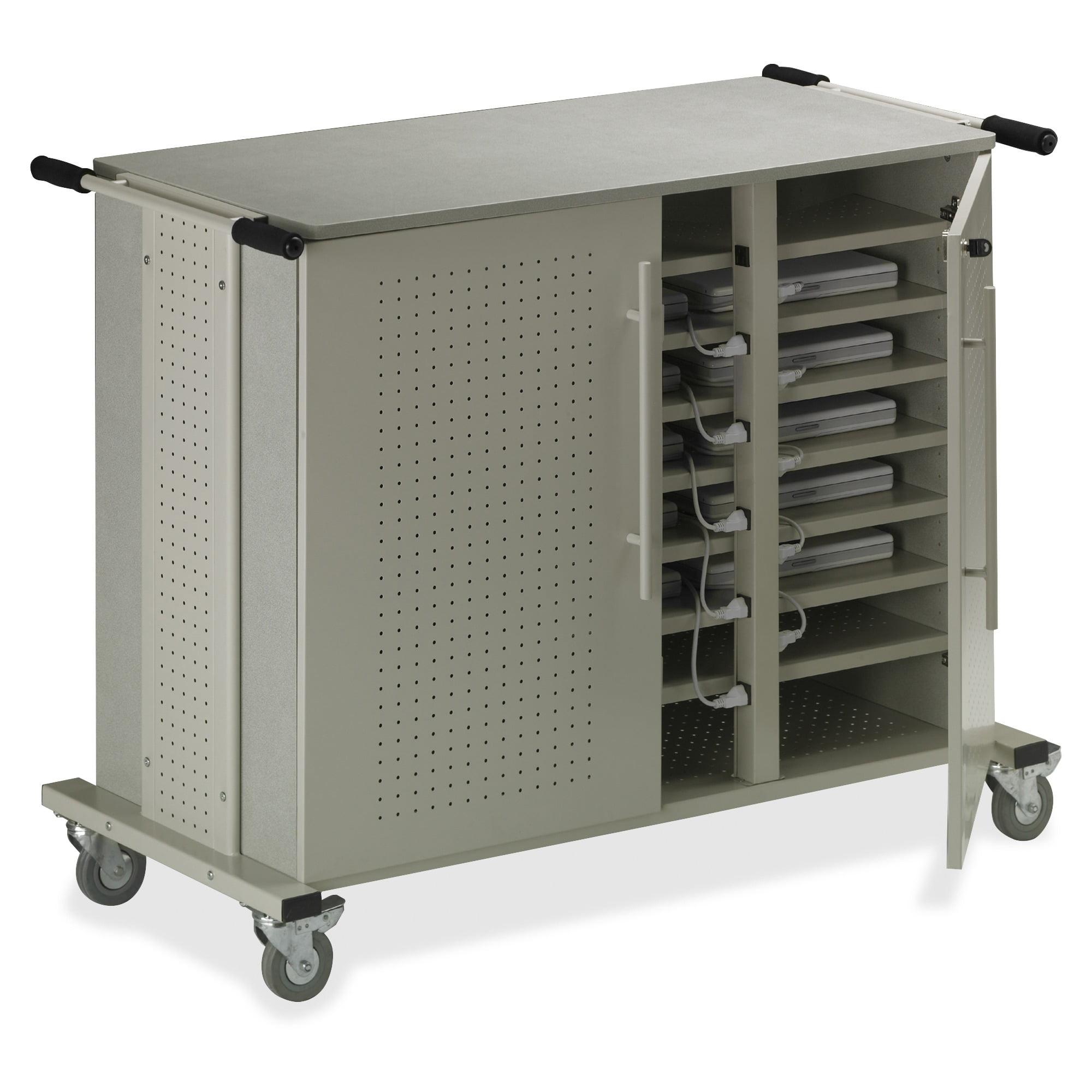 Mayline Laptop Cart, 50-1/2w x 26-1/2d x 40h, Gray Matrix/Sand