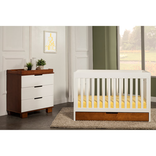 Baby Mod - ParkLane 3-in-1 Baby Convertible Crib, Amber and White