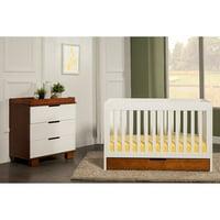 Baby Mod ParkLane 3-in-1 Baby Convertible Crib (Ambe/White)