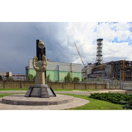 Canvas Print Nuclear Power Plant Chernobyl Npp Ukraine Monument Stretched Canvas 10 x (Waves Npp Native Power Pack)