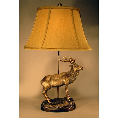 Judith Edwards Designs Bronze Elk 26'' Table Lamp